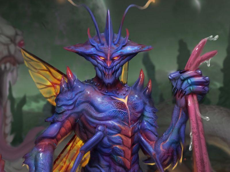 Card Design - Bug Alien