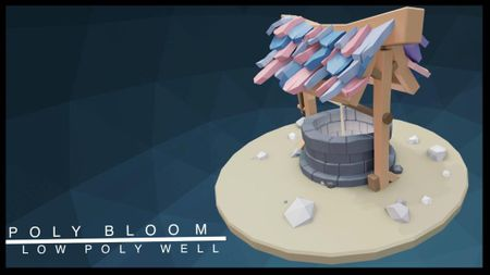 Low poly well.