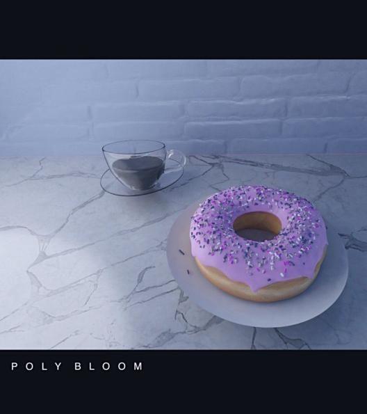 donut & coffee cup scene.