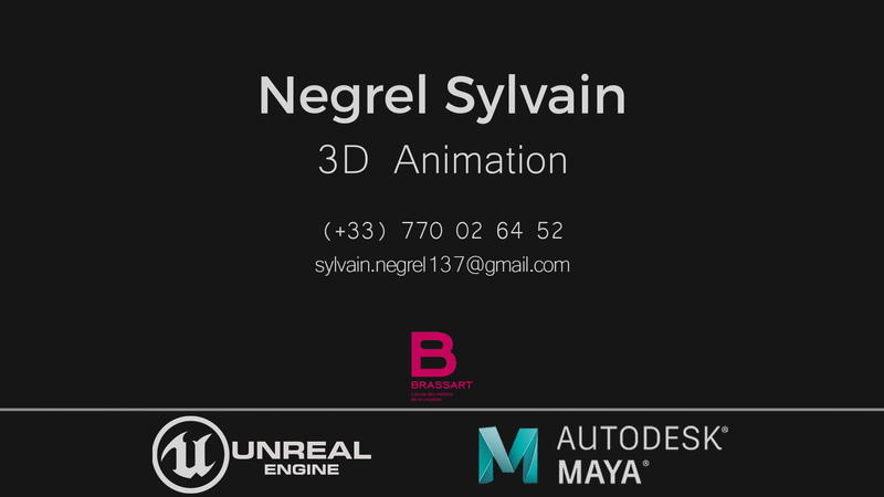 Game animation reel 2020