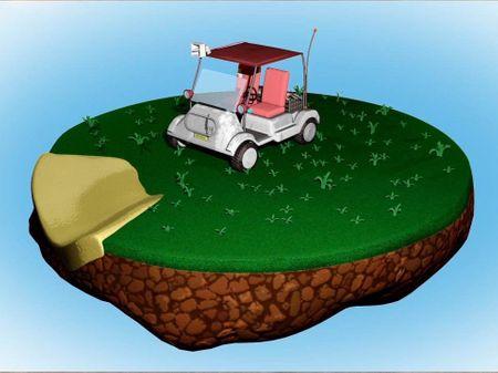 Fortnite Inspired Golf Cart