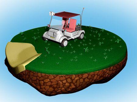 Fortnite-Inspired Golf-Kart