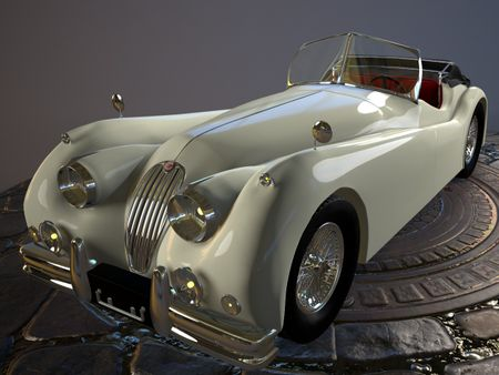 VINTAGE CAR : Jaguar XK-140