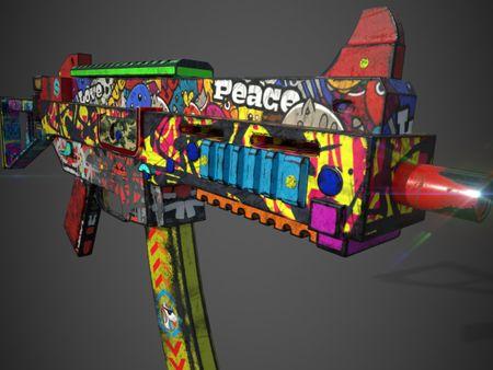 GRAFFITI SKIN UMP9 GUN
