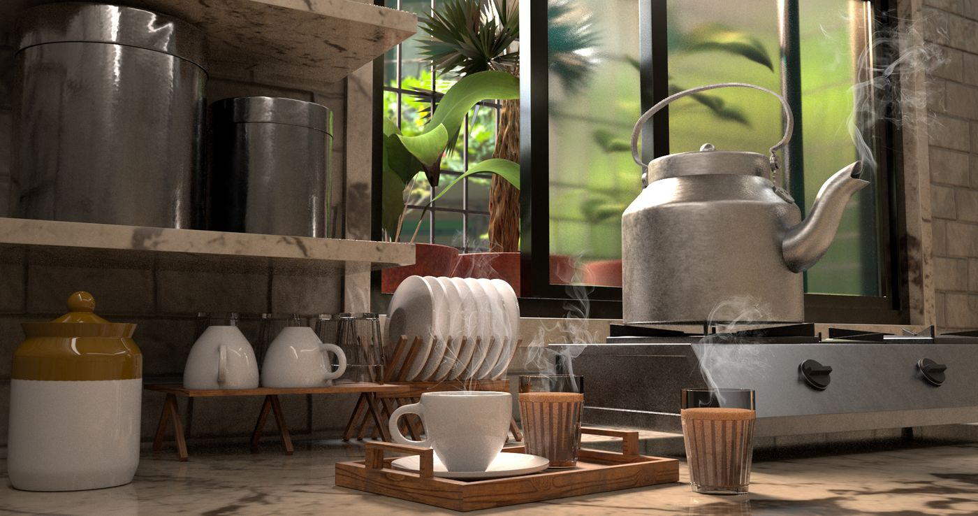 Traditional Aluminium  Chai Kettle for making chai(Tea):