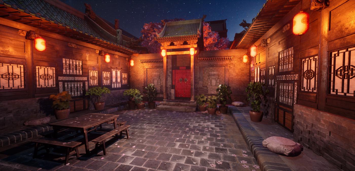 Chinese Courtyard Environment