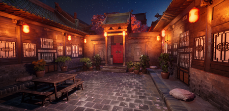 Chinese Courtyard Environment