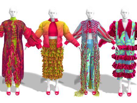 Printed Digital Garment Experimentation - Grace Moore
