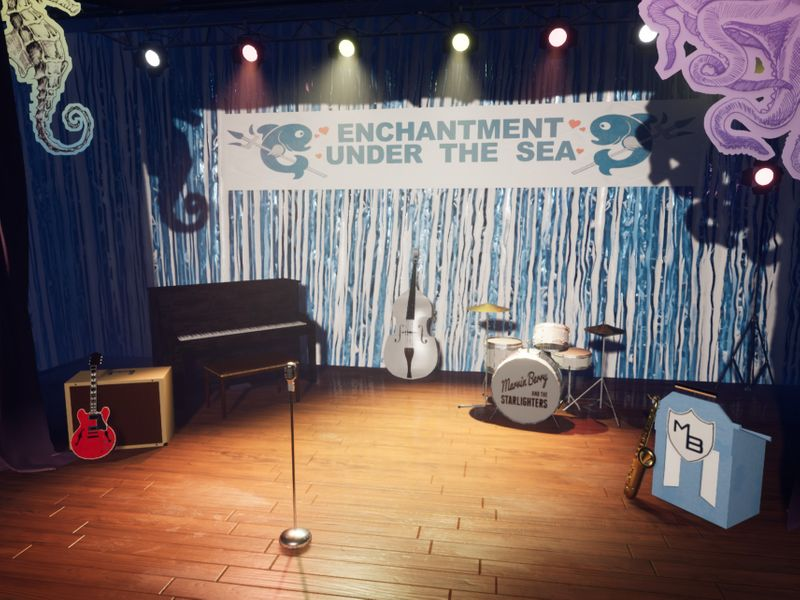 Enchantment Under the Sea Inspired Stage