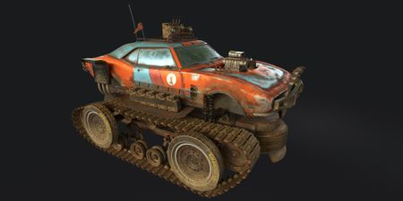HOT ROD CAR+TANK TRACKS