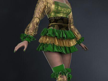 Clown Girl - Ruffled Dress (Concept)