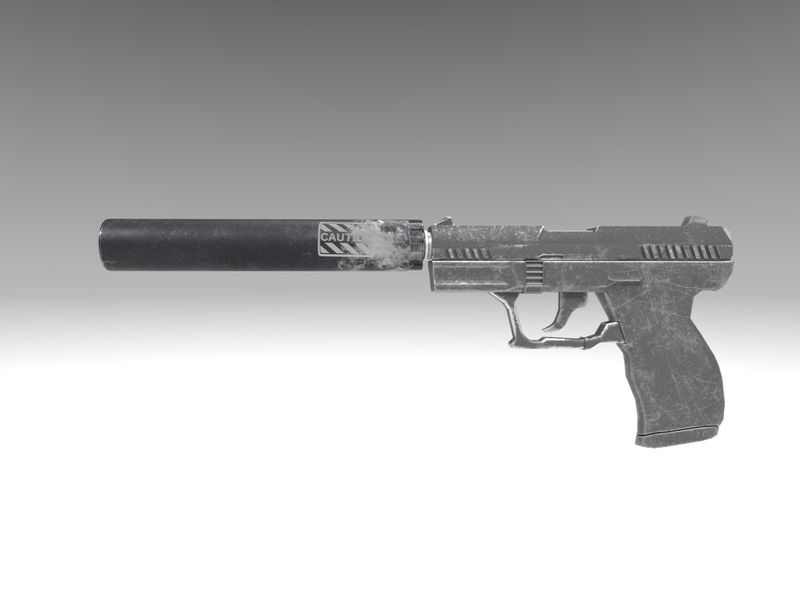 Gun Models (Apex Legends, Pistol Silencer)