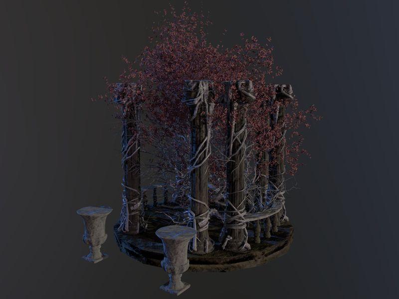 3D Wisdom Tree Concept