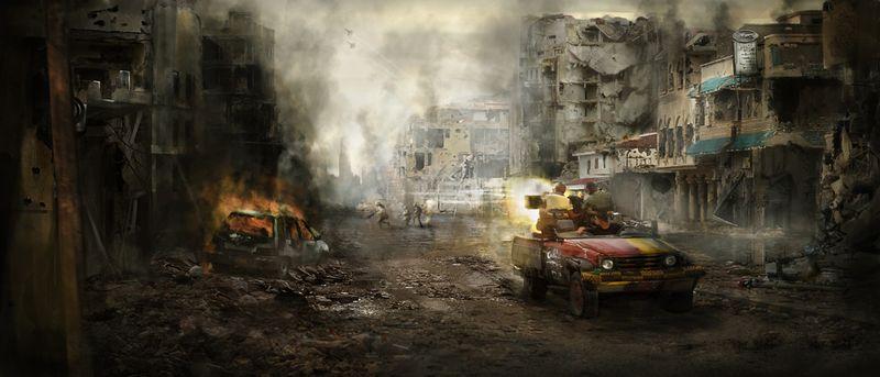 War scene concept