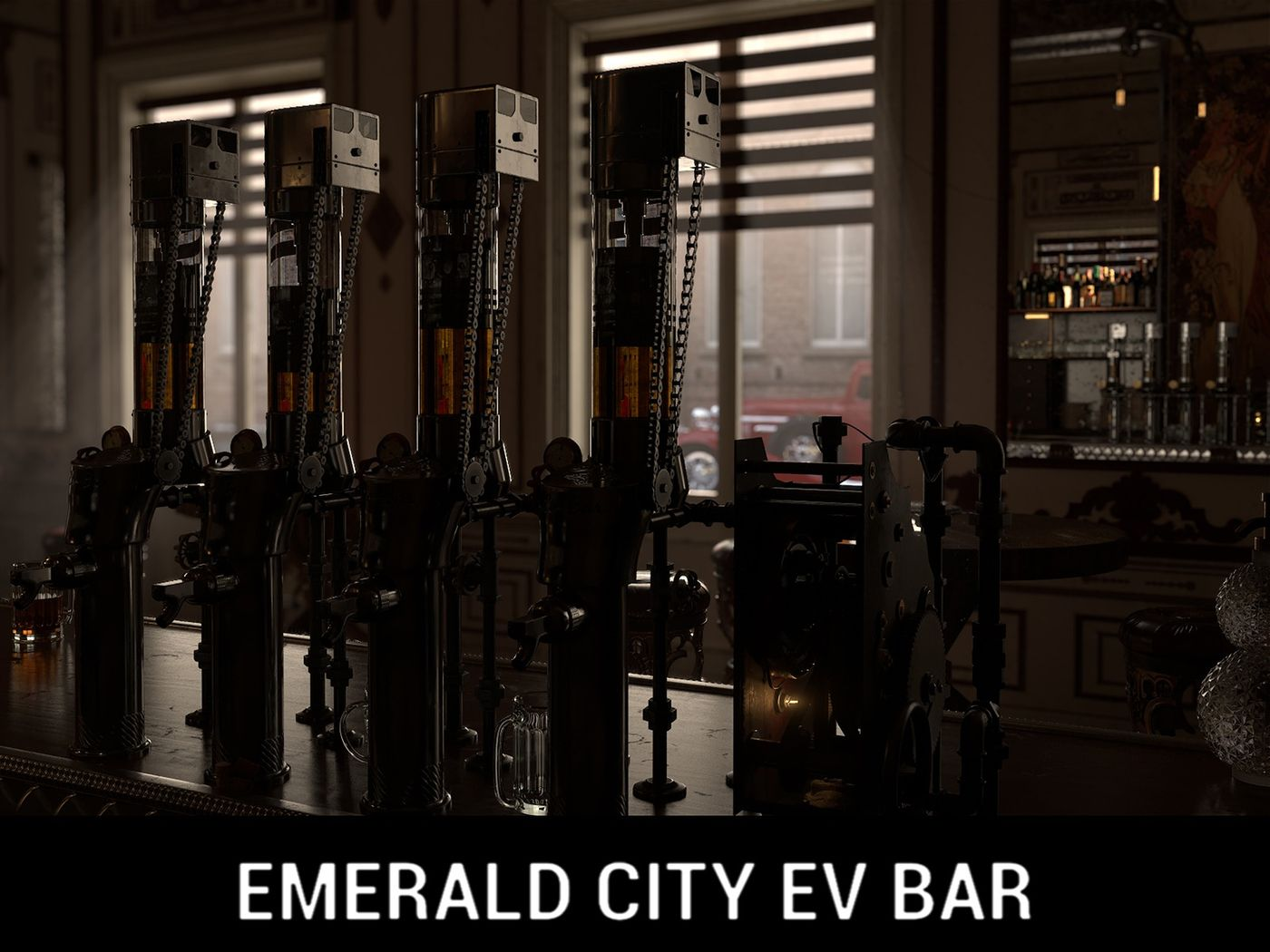 Emerald City Ev-Bar | CG Environment Reel