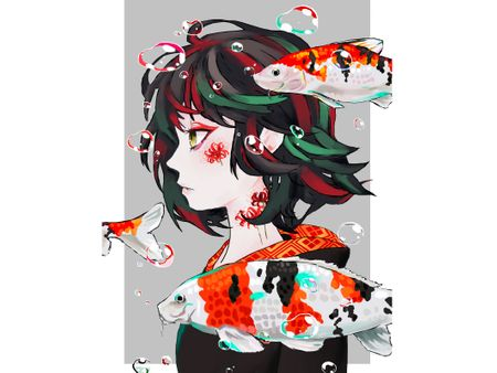 Anime Koi Girl
