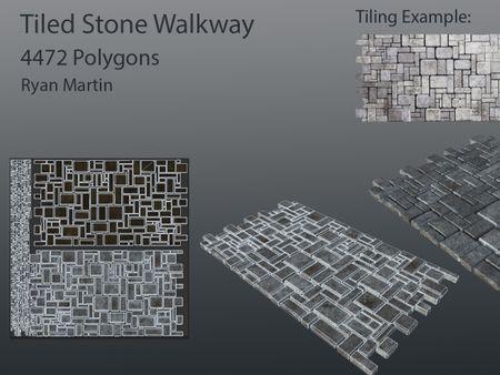 Tiled Stone Walkway