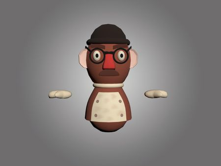 Mr. Potato but it´s an overcooked skin