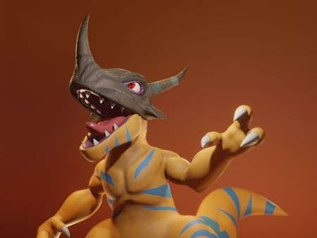 Digimon Greymon Sculpt
