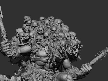 Undead Barbarian WIP 2