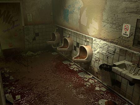 """Silent Hill"" Bathroom"