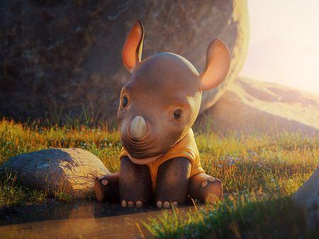 Stylized Baby Rhino