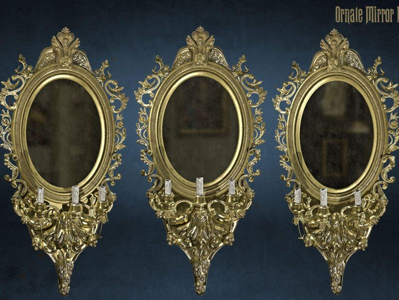 Ornate Brass Mirror - By Ross Baxter