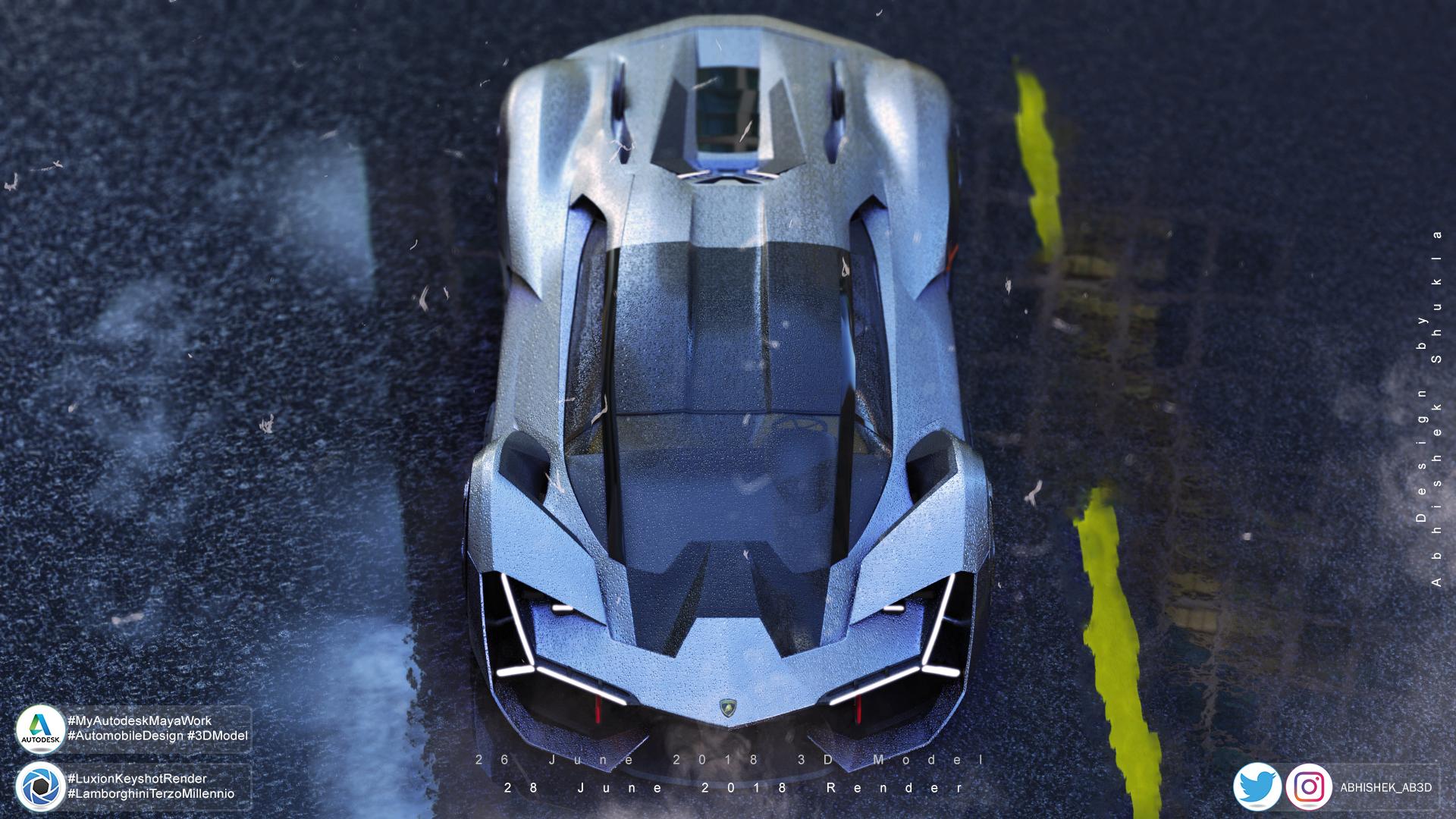 Lamborghini Terzo Millennio Visual Art The Rookies