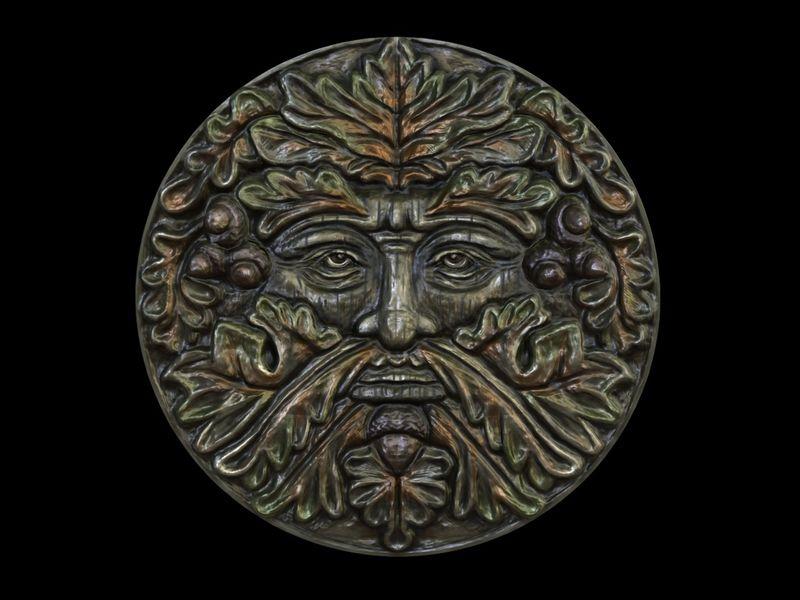 Green Man plaque