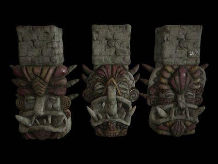 Mayan Statues