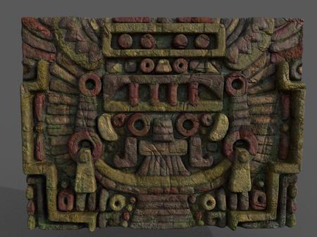 Mayan wall piece