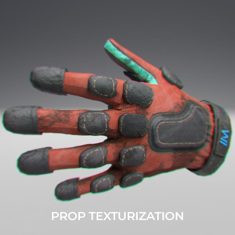 VR Ready Low-Poly Padded Gloves