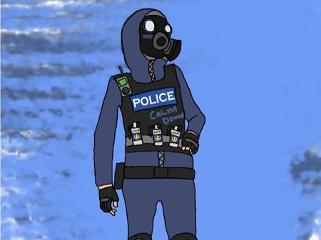 Police Versus Rioters Concepts