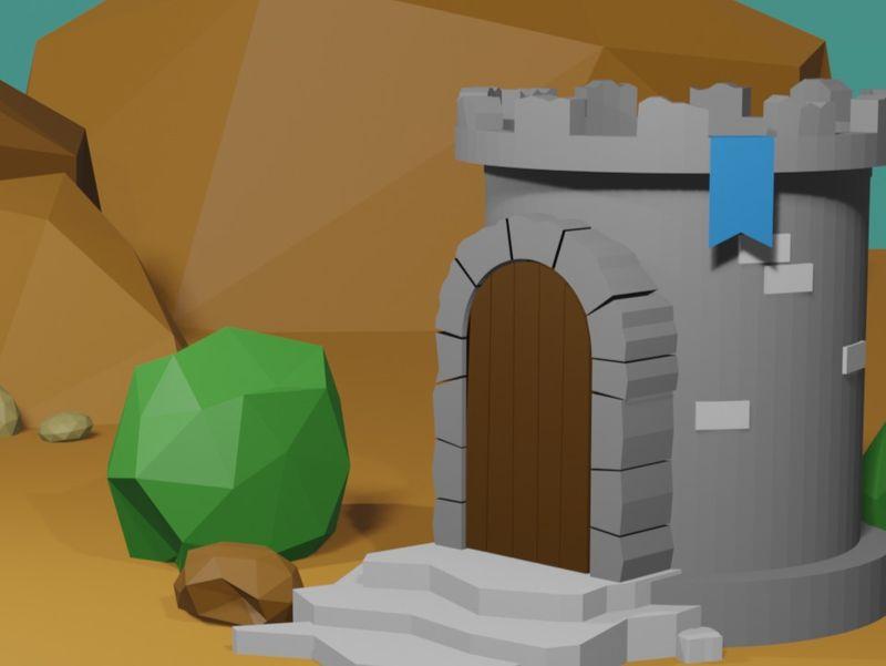Low Poly Castle