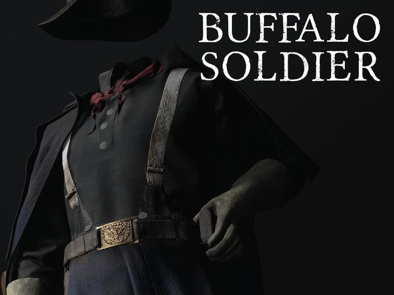 In the Heart of America - 1866 Buffalo Soldier