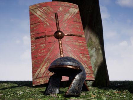 Roman Helmet and Shield