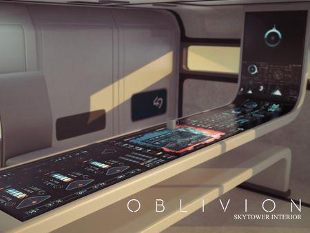 Oblivion Skytower and Bubbleship Fan Art