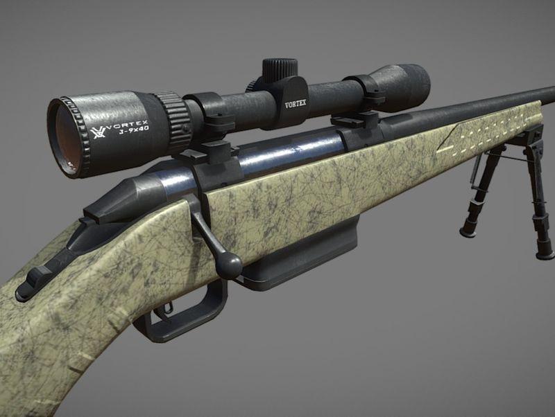 Ruger American Rifle with Vortex Crossfire II (Sketchfab Viewer)