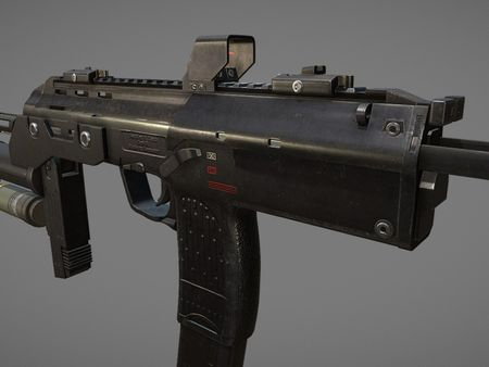 Heckler and Koch MP7 with Grenade Launcher (Sketchfab Viewer)