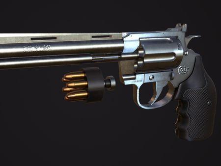 Colt Python 357 Revolver (Sketchfab Viewer)