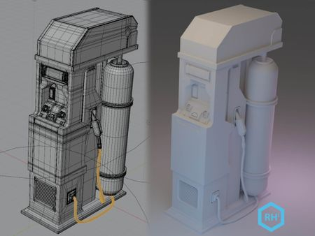 SciFi Fuel Console Game Asset