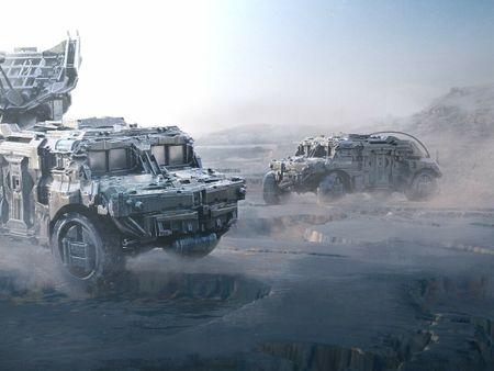 Hard Surface Vehicle Design VR worflow