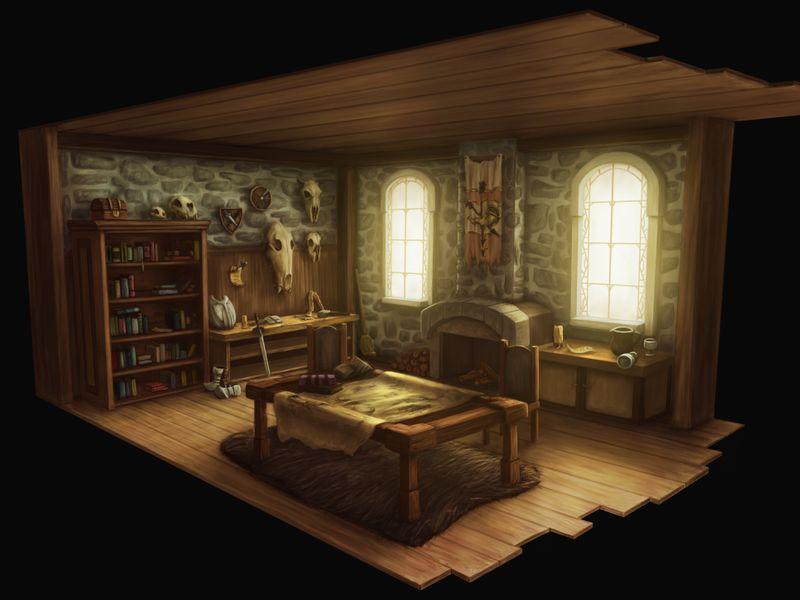 Set Design - Hunter's Room