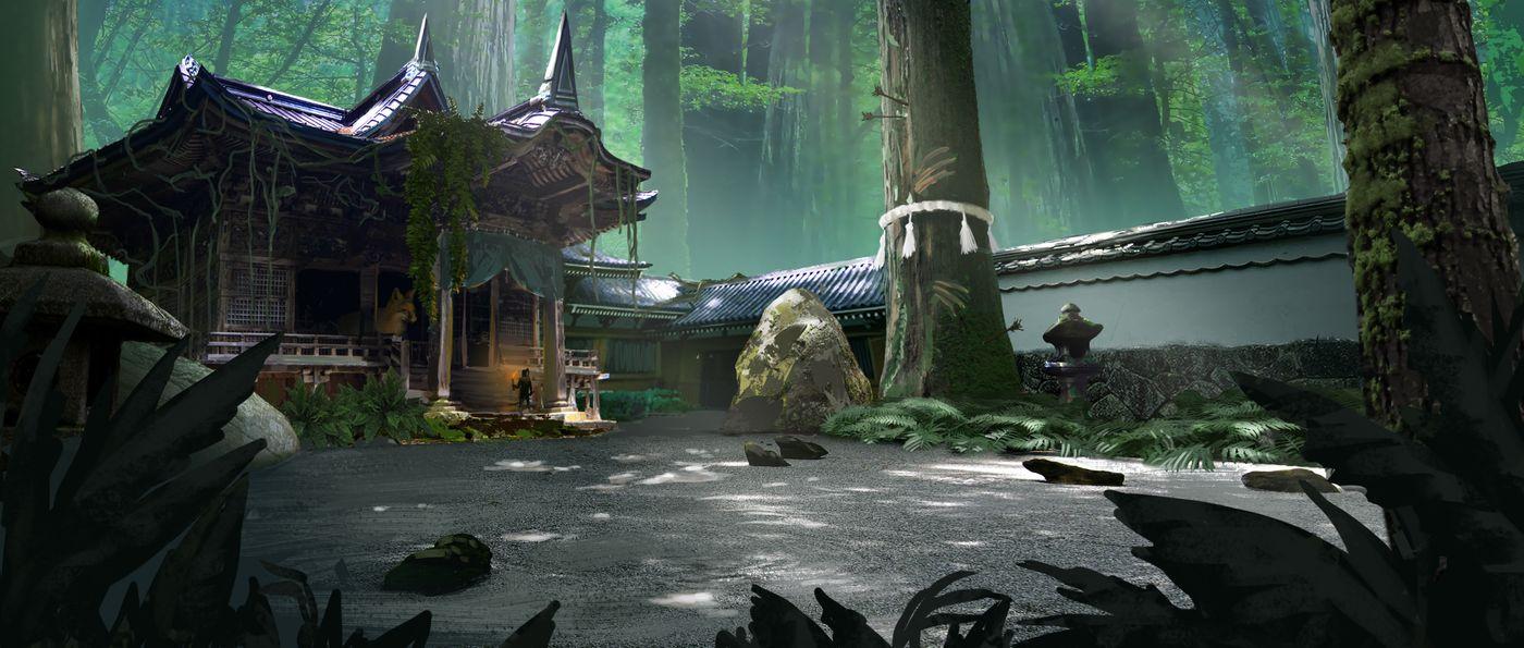 Feudal Japan Abandoned Shrine