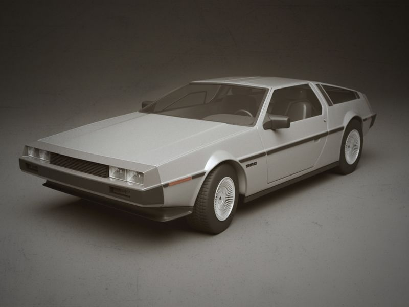 DeLorean | High Poly