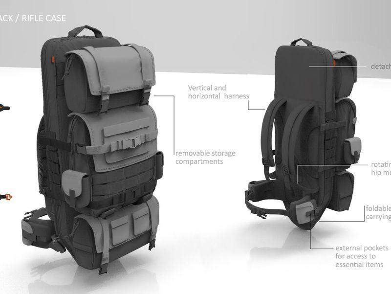 Props - Gunslinger Backpack