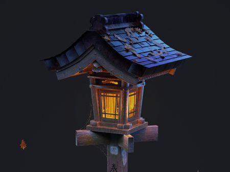 Japanese Votive Lantern - Aava Art Jam Challenge (September)