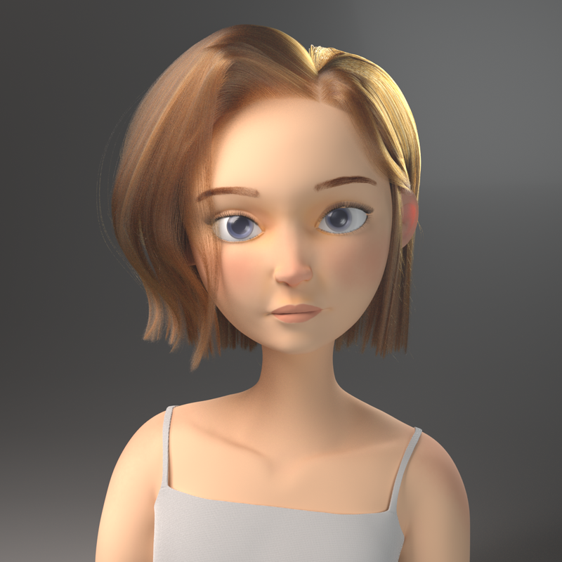 Girl Sketch Render