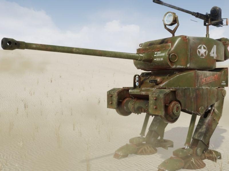 """WWII Allies """"Sherman"""" Walker"""