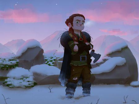 """Sigrid The Viking"" color & lighting"